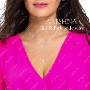 Areshna Jewelry - Lariat Swarovski Crystals Trendy Necklace